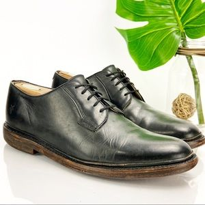 Frye Philip Oxford Black Leather Handcrafted Mens